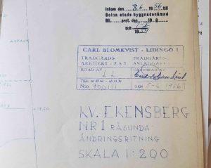 Trädgårdsarkitektfirman Carl Blomkvist från Lidingö anlade trädgården till Vårvägens gård.