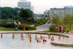 Plaskdammen i Skytteholmsparken. Tidigt 1980-tal.
